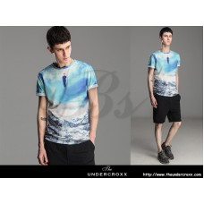 Lilbetter European Style 3D printing Male Star Tide Creative Tee