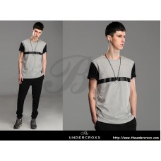 Lilbetter Black Gray Side Zip Tee