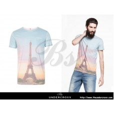 SELECTED Men Paris Eiffel Tower Print Tee