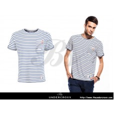 SELECTED Men Pocket Anchors Striped Tee