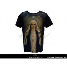 TheUndercroxx 3068S Star Neck Mary Necklace Tee