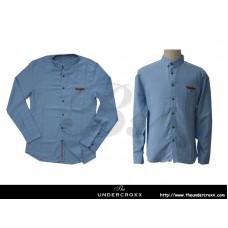 TheUndercroxx 6028L x Custom Tailor Pocket Blue Shirt
