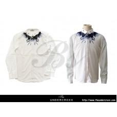 TheUndercroxx 6061L x Star Iron Collar x Owl Print White Shirt