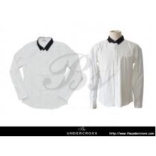 TheUndercroxx 6058L x Python Collar White Shirt