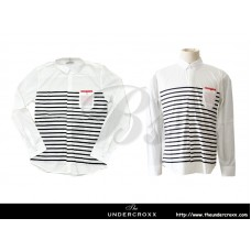TheUndercroxx 6038L x Black Stripe White Shirt