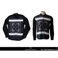 TheUndercroxx 6064L x  Owl Ring Print Black Shirt